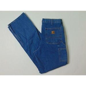 Carhartt 34 X 36 Carpenter Blue Jeans Dungaree